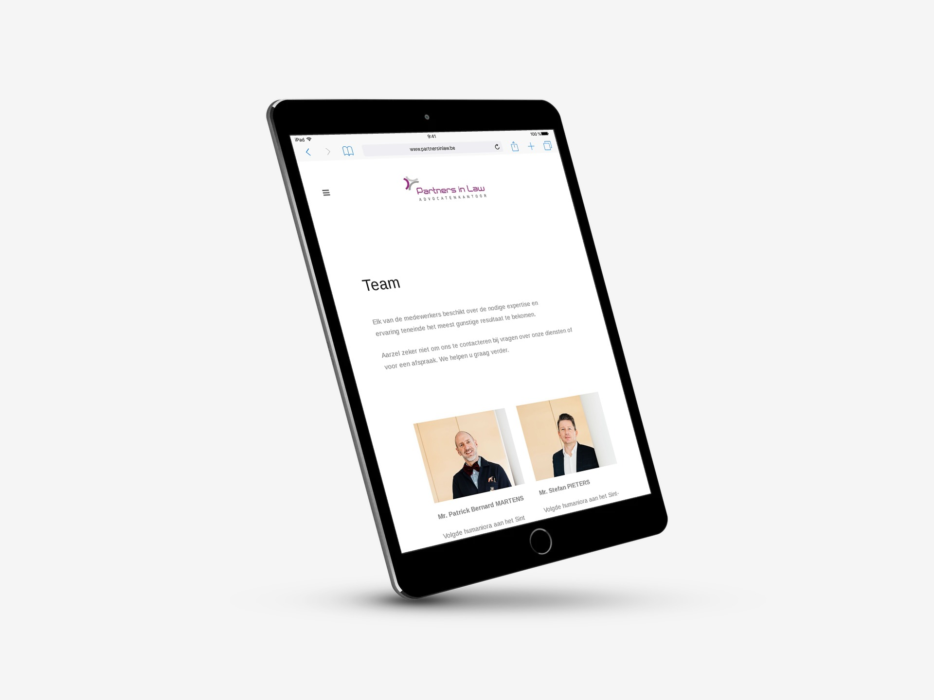 Partners in Law webdesign