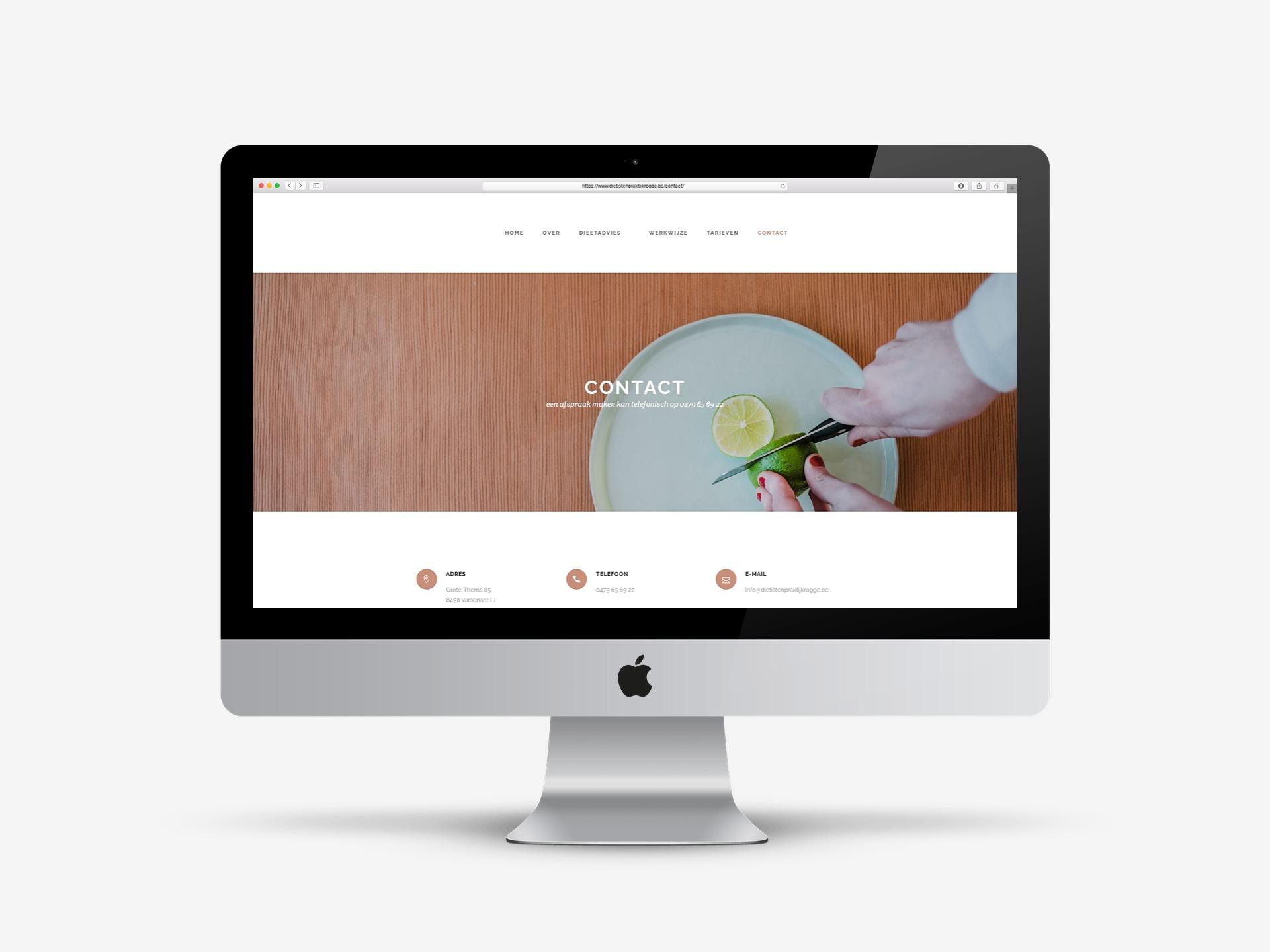 Dietistenpraktijk Rogge webdesign