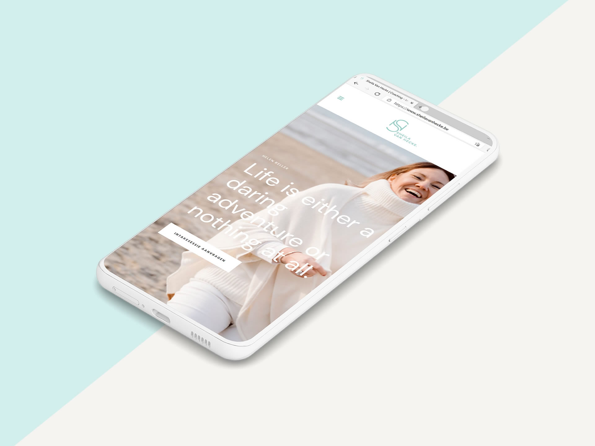 Sheila Van Hecke webdesign