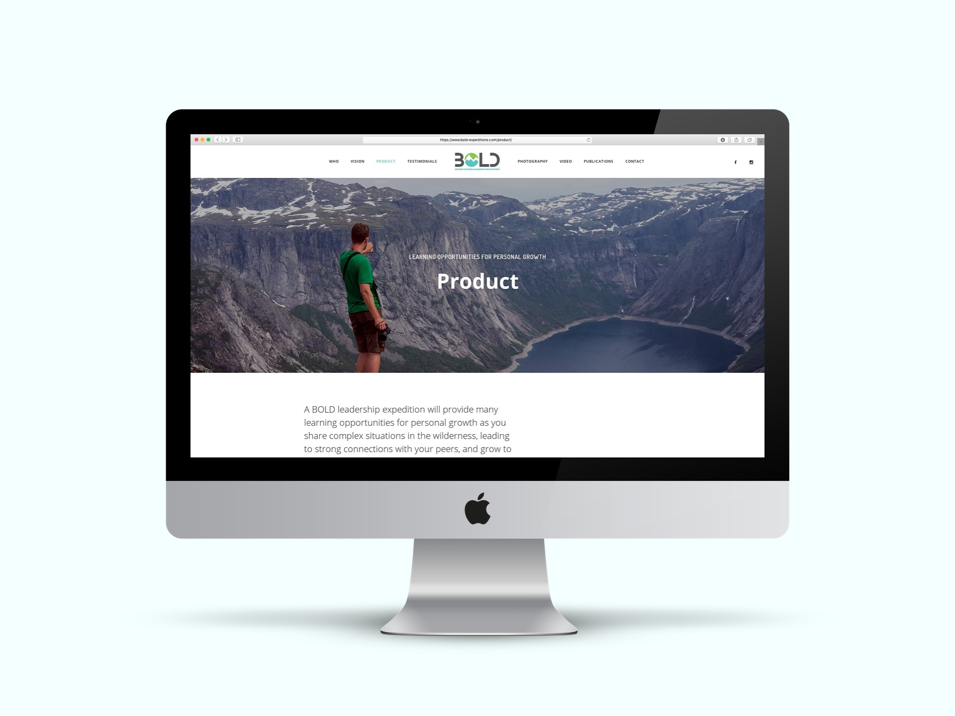 Bold Expeditions webdesign